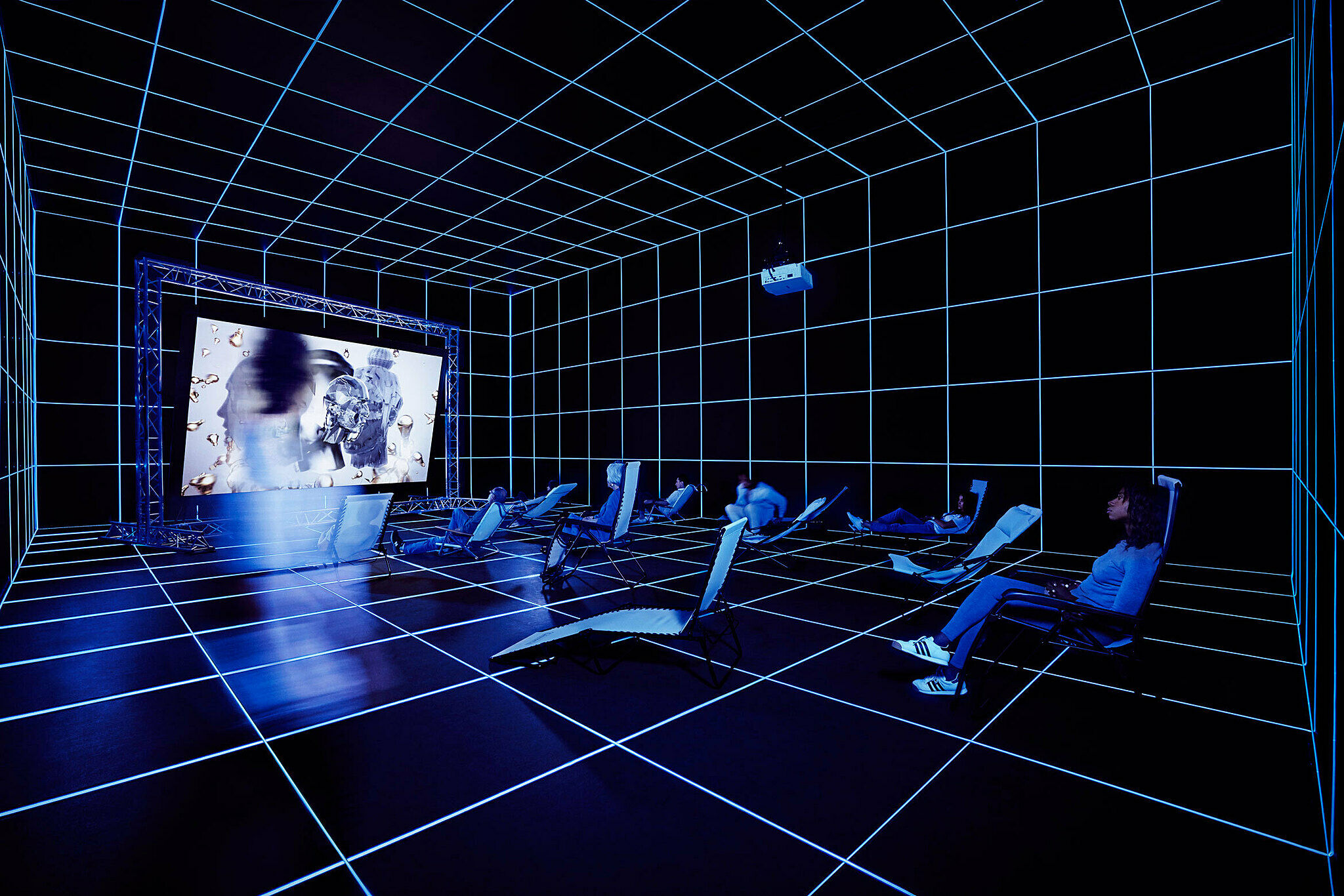 An immersive video installation by artist Hito Steyerl.