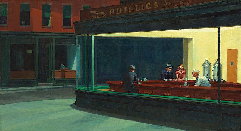 Famous nighthawks painting.