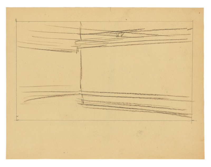 Sketches of the diner's dimensions.