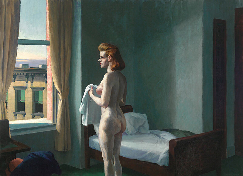 Famous painting of Morning in the City.